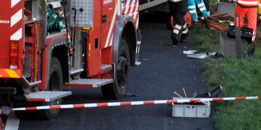 Automobilist omgekomen bij opmerkelijk eenzijdig ongeval