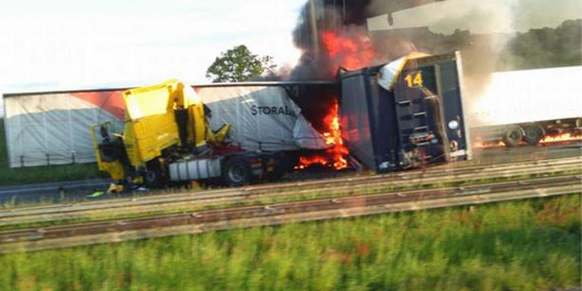 ongeval vrachtwagens