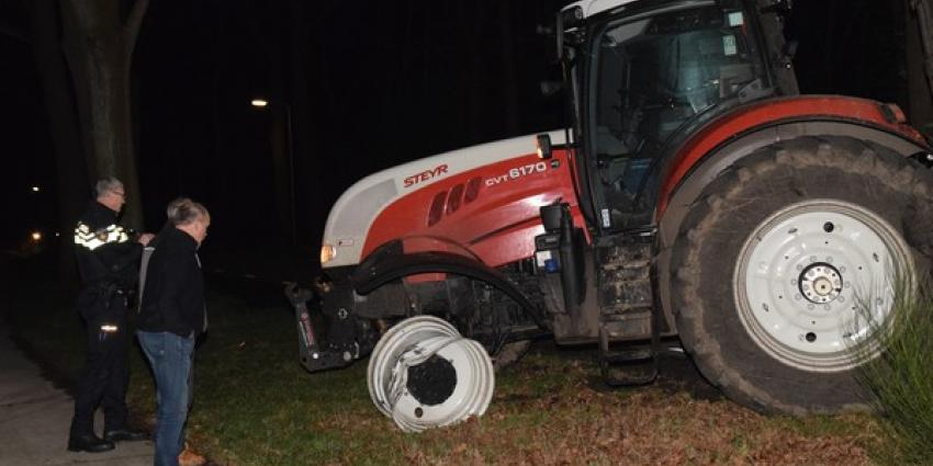 Gewonde bij ongeval tussen tractor en personenwagen