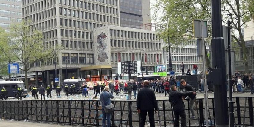 Beelden ongeregeldheden binnenstad Rotterdam openbaar