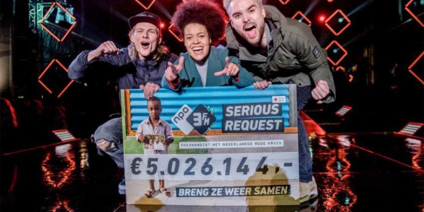 Serious Request haalt ruim 5 miljoen euro op