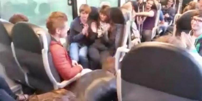 Tien keer opdrukken in trein om boete te ontlopen