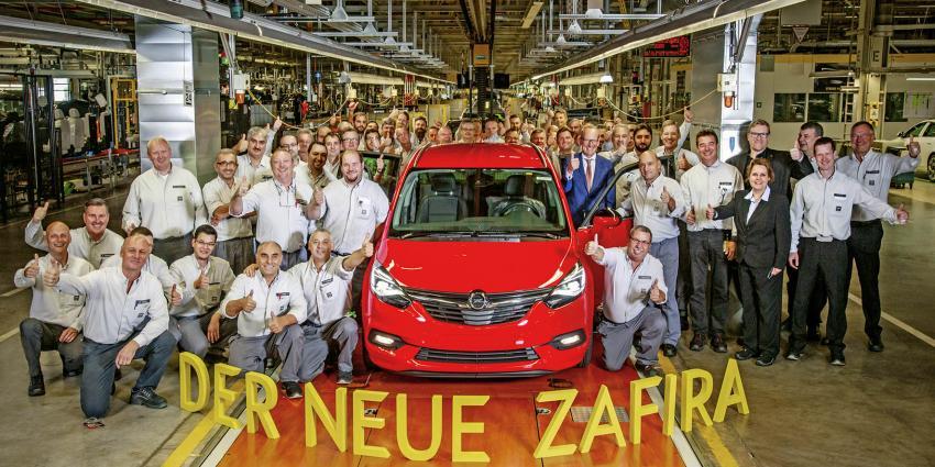 Productie nieuwe Opel Zafira van start