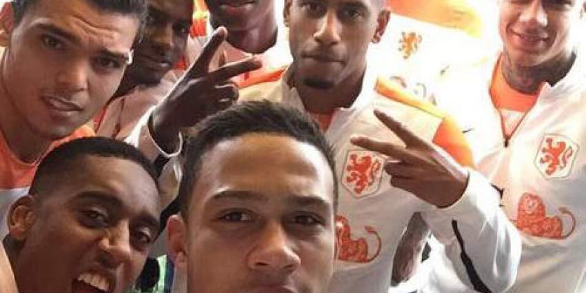 KNVB niet blij met selfie vanLeroy Fer