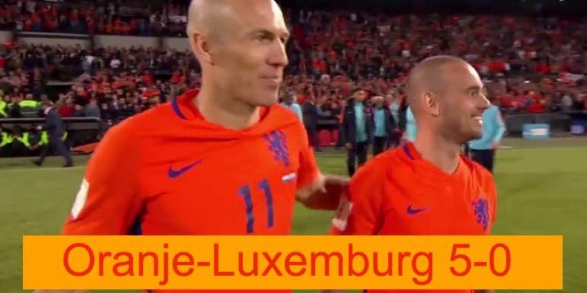 Oranje verslaat Luxemburg met 5-0