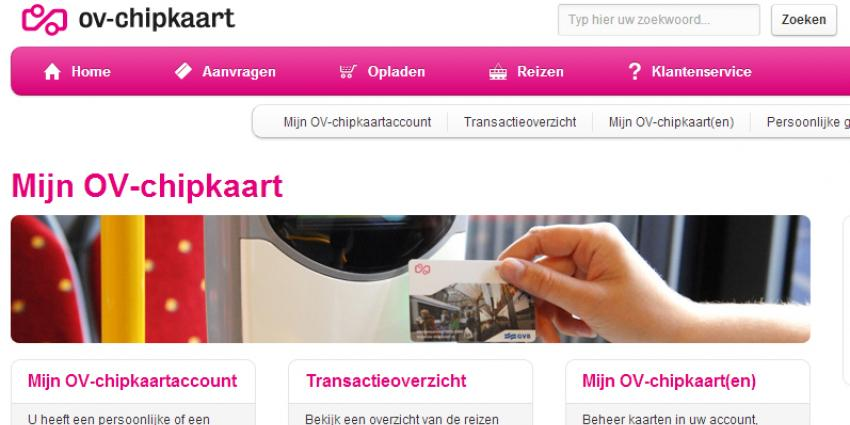 'Lek gevonden in website ov-chipkaart'