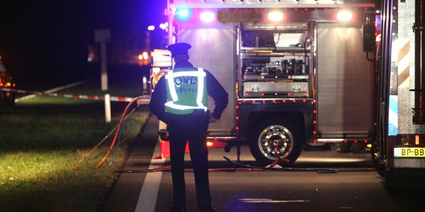Foto van politie agent bij ongeval | Archief EHF