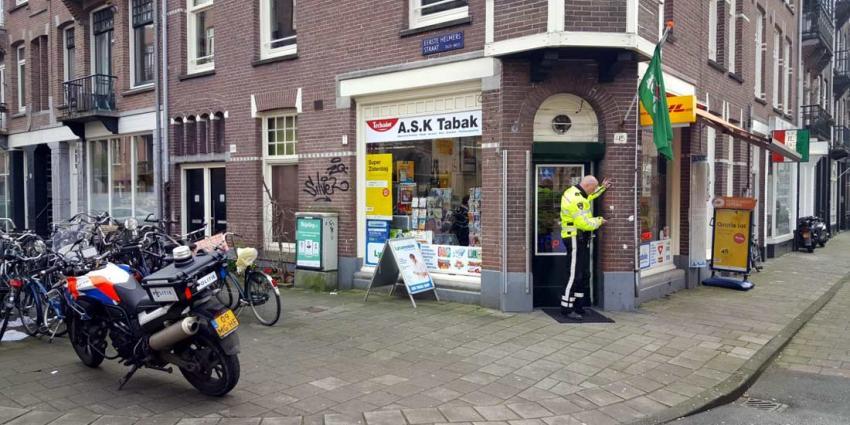Tabakszaak in Amsterdam overvallen