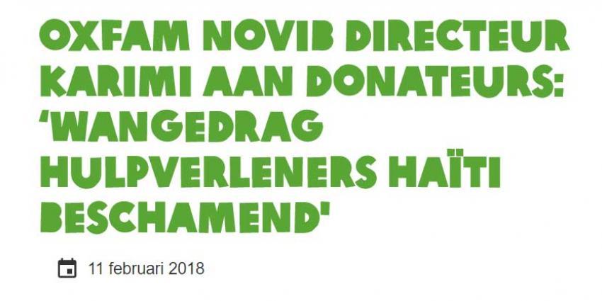 Oxfam Novib door het stof om wangedrag medewerkers