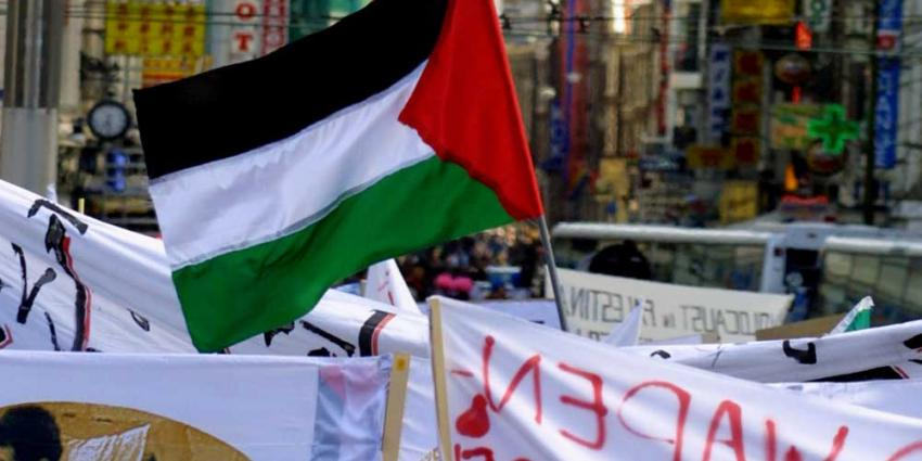 Demonstratie voor mensenrechten GAZA in Rotterdam