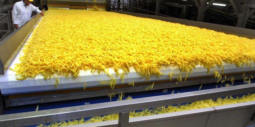 frietproductie van wellicht Belgische frieten