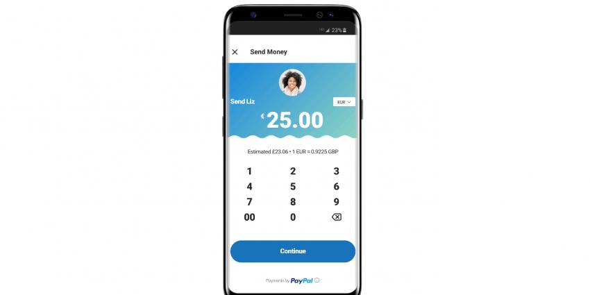 Geld versturen via PayPal in de Skype Mobile App