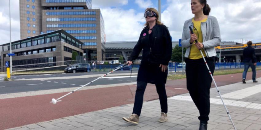 Honderden mensen blind in actie voor oogonderzoek