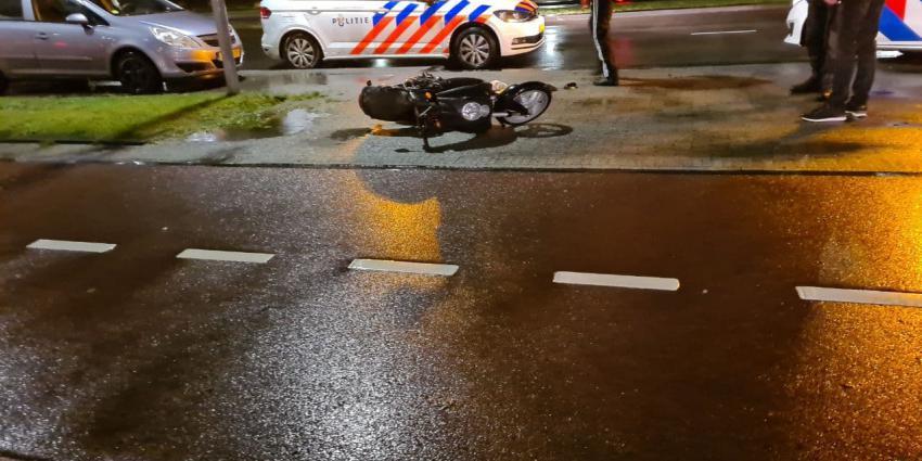 Scooter beschadigd door aanrijding