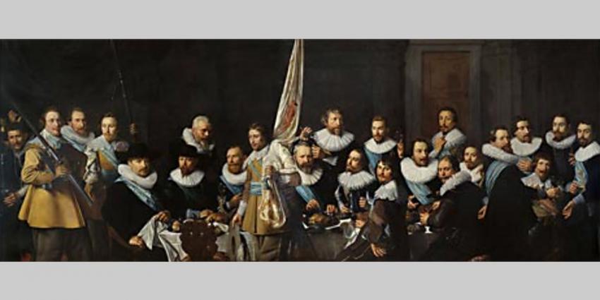 Foto van schilderij maaltijd schutters Pickenoy | Amsterdam Museum