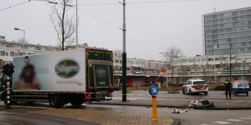 fietser, gewond, aanrijding, vrachtwagen, amsterdam, osdorp