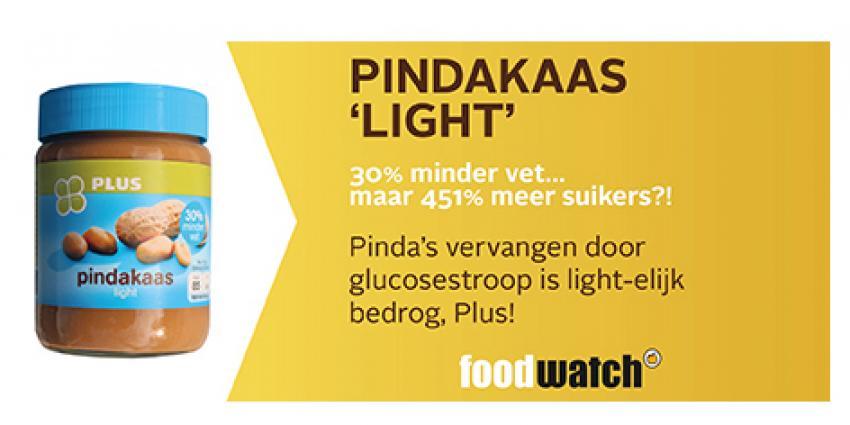 Pindakaas 'light' met 451% méér suikers uit winkelschap gehaald