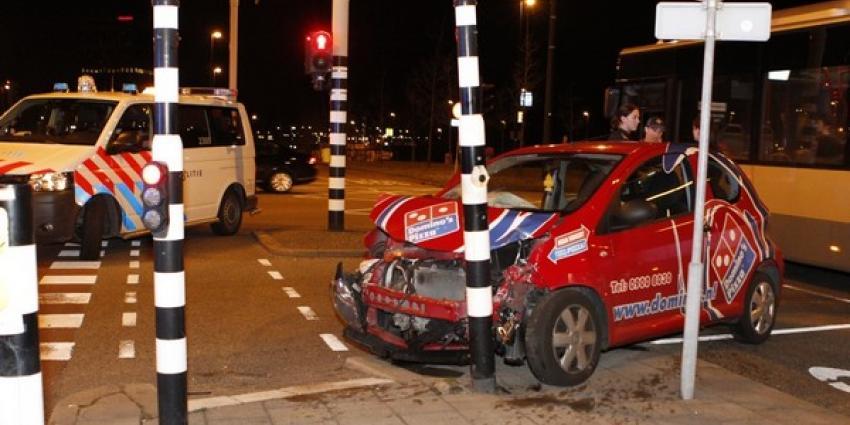 Foto van botsing met pizzabezorger | Flashphoto | www.flashphoto.nl