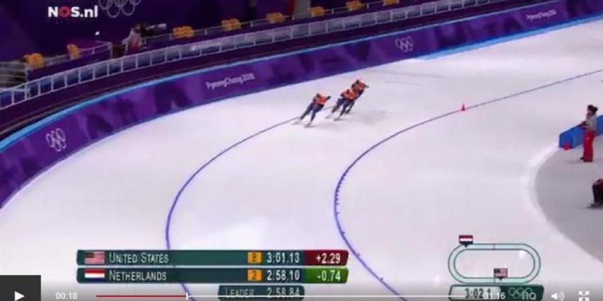 Nederlandse schaatsers naar halve finale ploegachtervolging