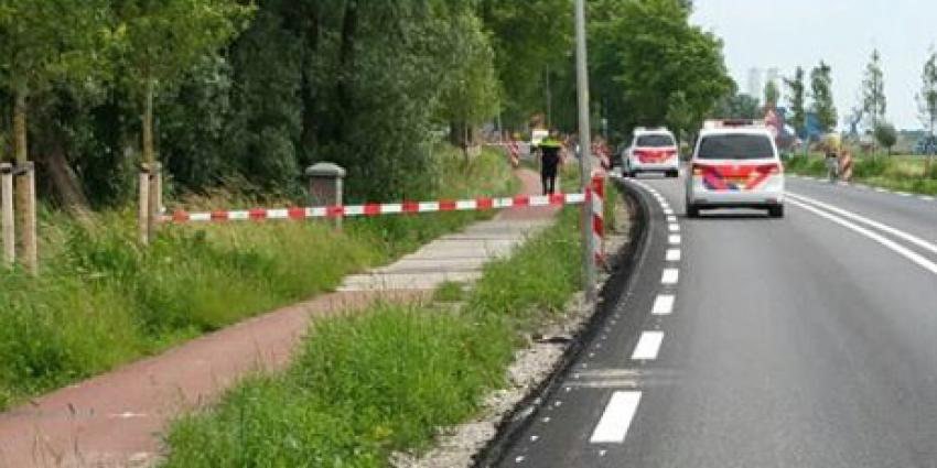 politieauto bij afzetting