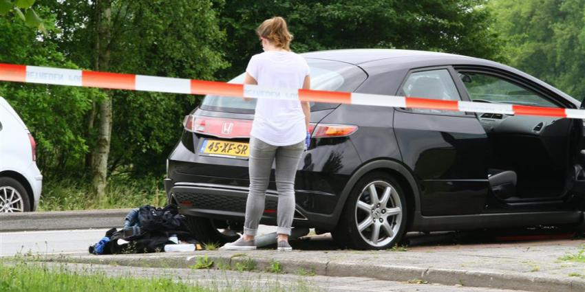 Foto van de gecrashte auto   Herman van Oost   www.vanoostfotografie.nl