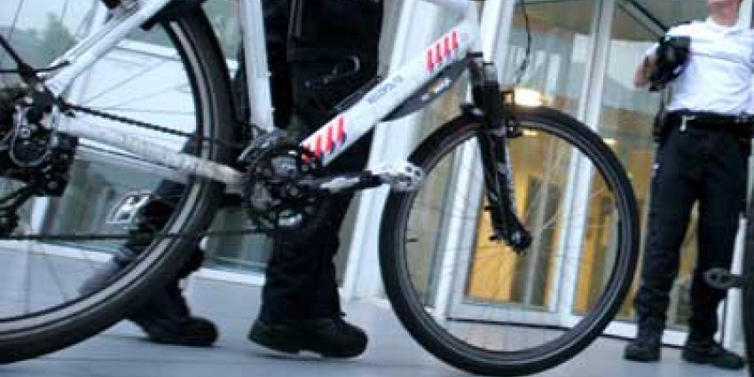 Foto van politie biker fiets | Archief EHF