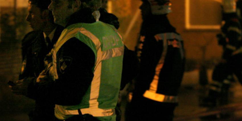Foto van politie en brandweer in donker | Archief EHF