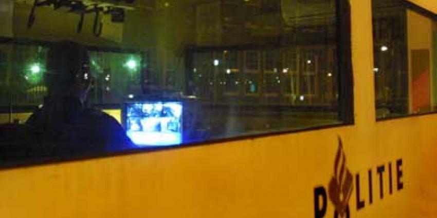 Foto van politie observatie container beveiliging | Archief EHF