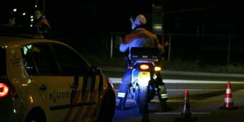 Foto van motoragent zwaailicht avond | Archief EHF