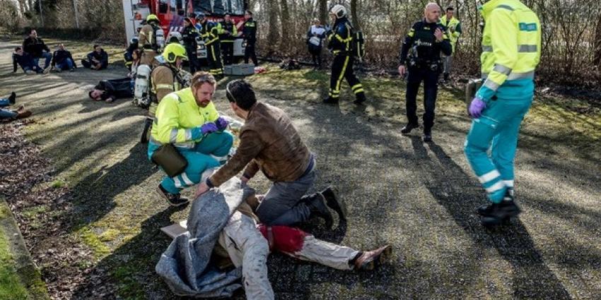 Doden en gewonden bij oefendag gezamenlijke hulpdiensten