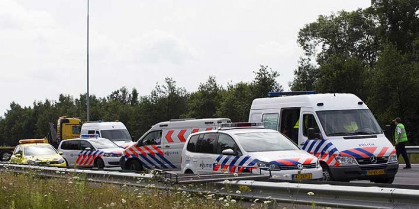 Foto van politieauto's op snelweg | Archief Sander van Gils | www.persburosandervangils.nl