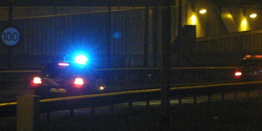 Vijf gewonden bij achtervolging gestolen auto op A22 bij Beverwijk