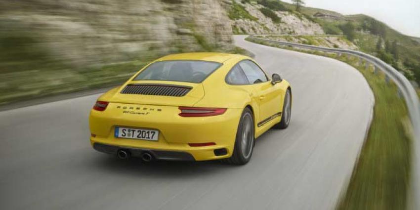 Nieuwe Porsche 911 Carrera T is lichtgewicht