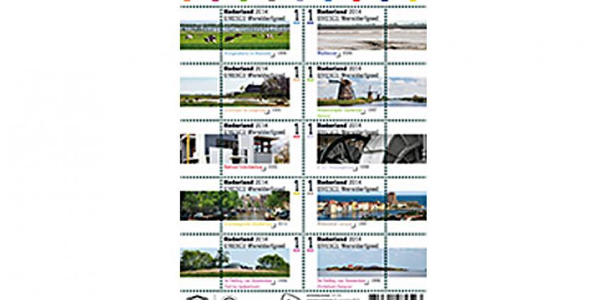 Nederlandse Werelderfgoederen op nieuwe postzegels