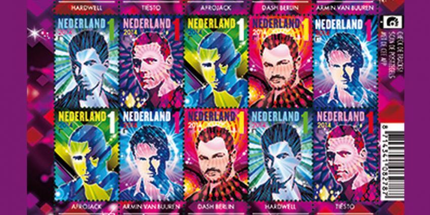 Nederlandse dj's op nieuwe postzegels
