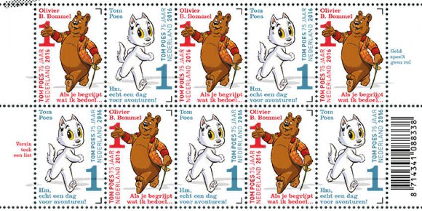 Nederlands beroemdste stripduo verenigd op postzegels