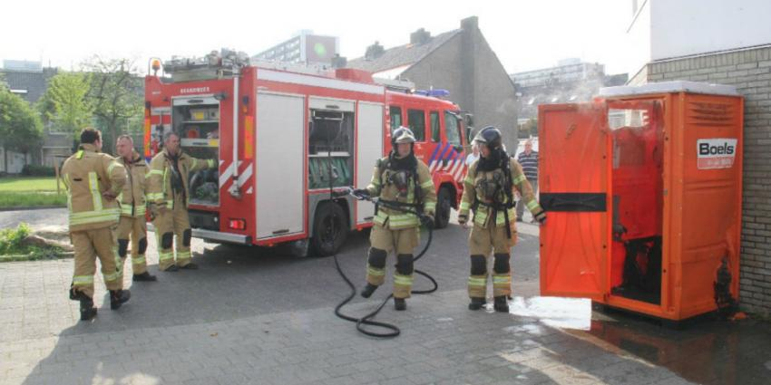 foto van brand in wc | Flashphoto | www.flashphoto.nl