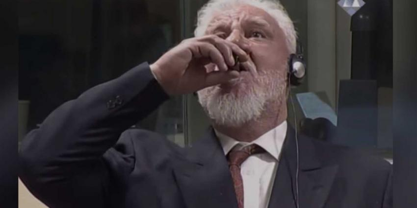 'Praljak overleden na drinken gif in Joegoslavië-Tribunaal'