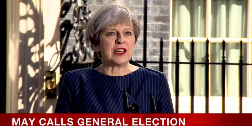 Premier May wil met vervroegde verkiezingen sabotage Brexit voorkomen