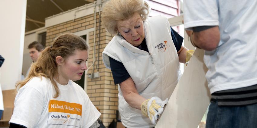 Prinses Beatrix zet zich in voor kinderen met een beperking tijdens NLdoet