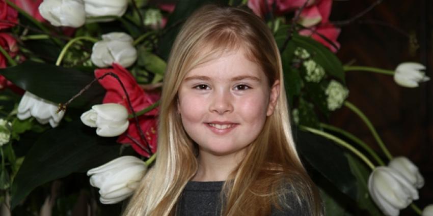 Kroonprinses Amalia naar Christelijk Gymnasium Sorghvliet Den Haag