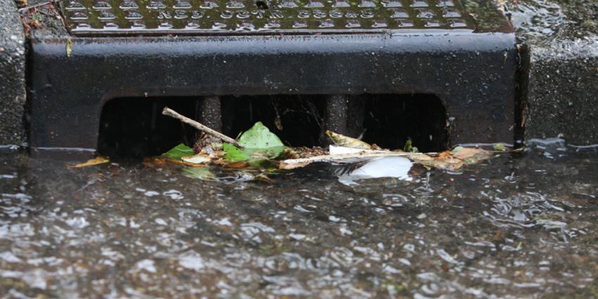 Hevige regenbuien in Overijssel