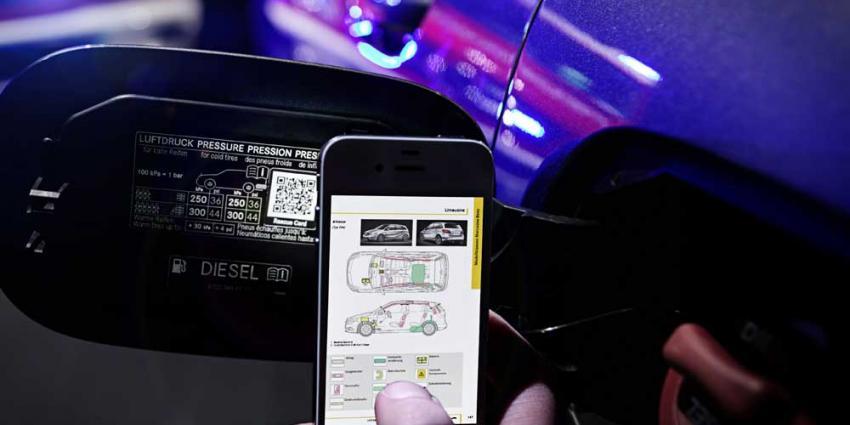 Foto van QR-code tankklepje auto | Mercedes-Benz