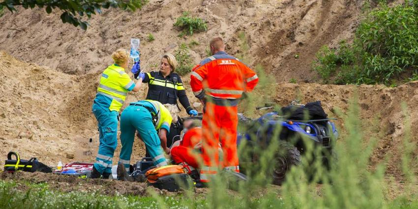 Quadrijder zwaargewond bij ongeval in Sint-Oedenrode