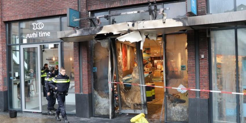 Ramkraak en brand bij supermarkt Amstelveen