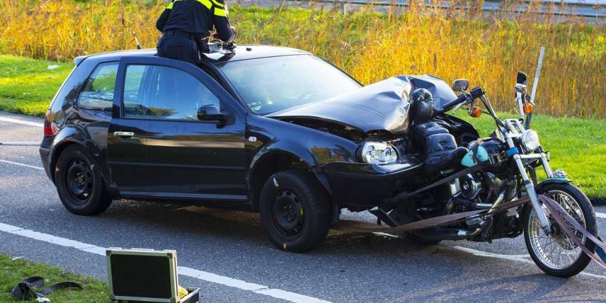 Reconstructie zwaar ongeval met motor op A2 bij Liempde