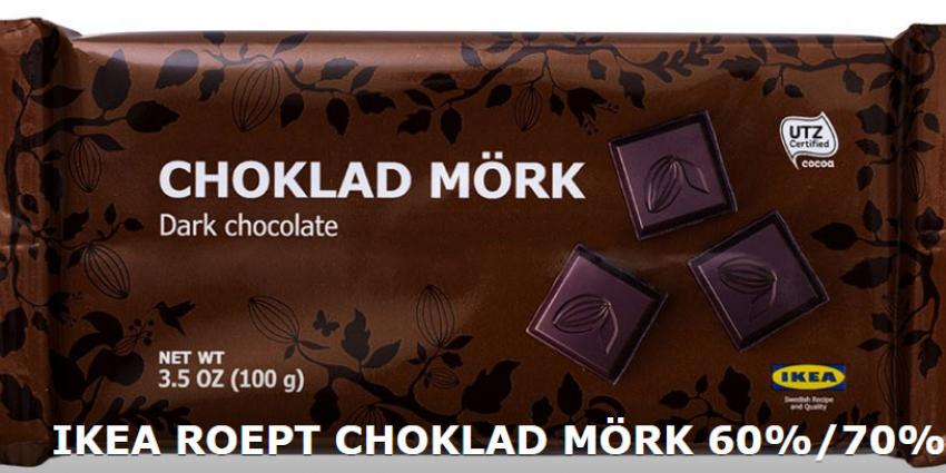 IKEA roept pure chocoladerepen terug vanwege sporen hazelnoot