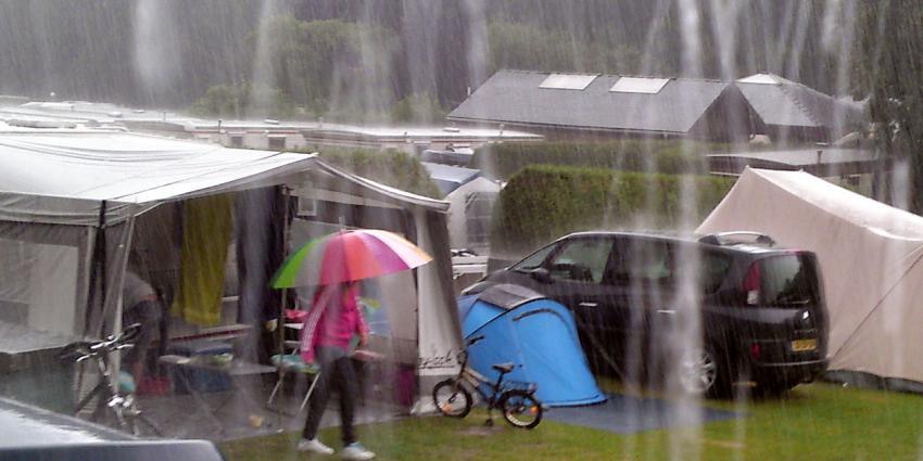 Komende week geen campingweer