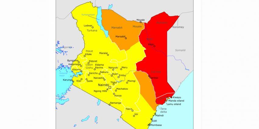 Buitenlandse Zaken past reisadvies Kenia aan