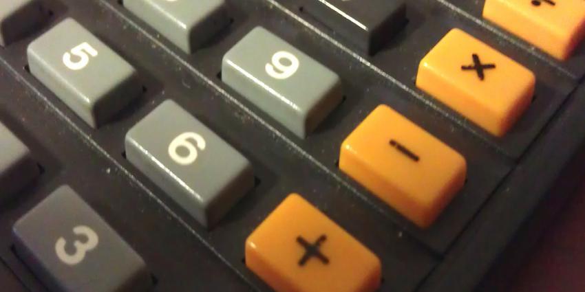 Foto van rekenmachine